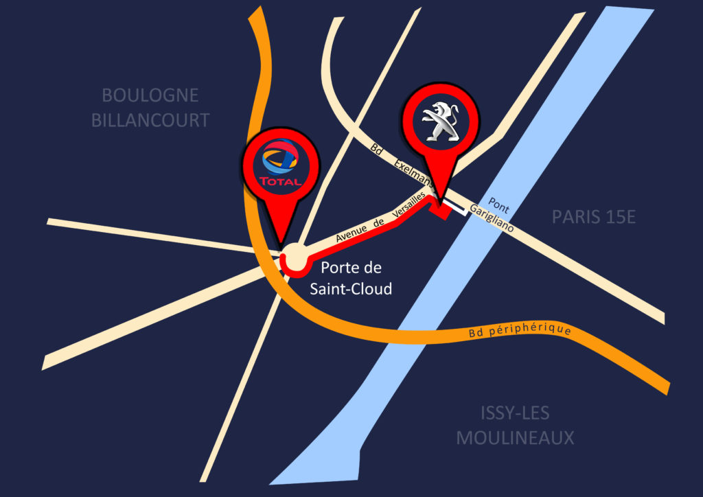 carte Peugeot Paris 16